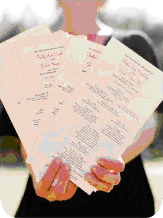 guest blog #1 – wedding programs! | m.press