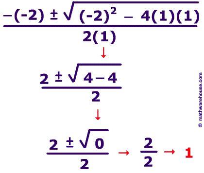 The Quadratic Formula to solve quadratic equations Step by step ...