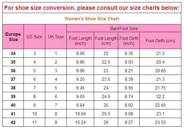 Shoe Chart Size Us