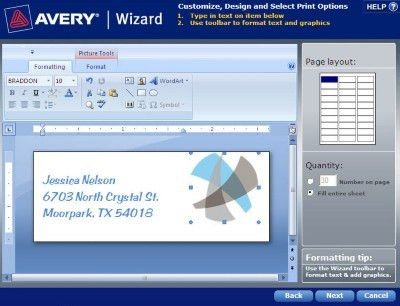 How to Format an Avery Template in Avery Wizard Software for ...