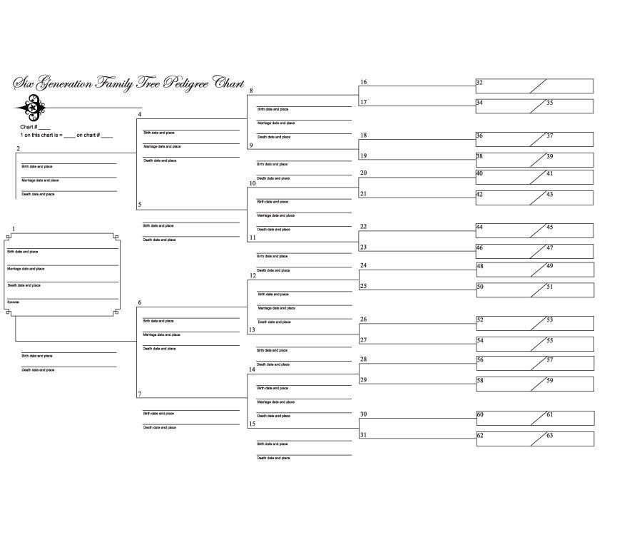 family tree format in word