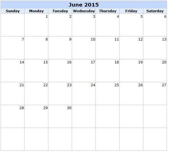 Get beautiful collection of 2015 June Calendar Printable Template ...