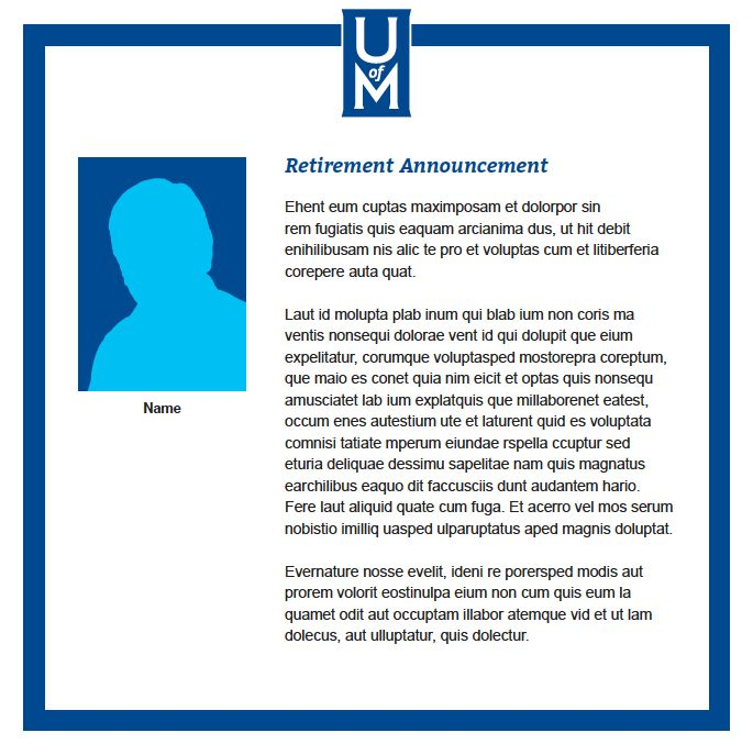 Announcements - Brand Standards - University of Memphis
