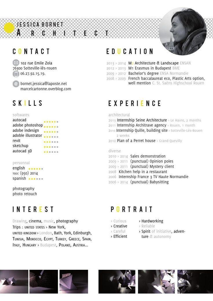 36 best architecture cv images on Pinterest | Cv design, Resume ...