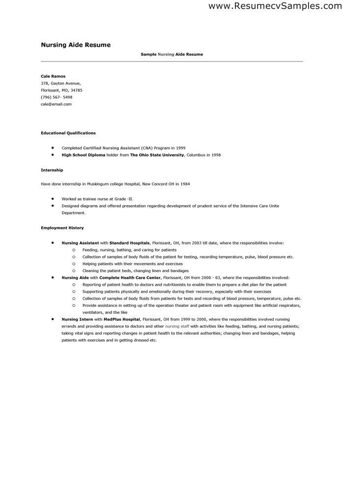 sample resume for rn position cna cover letter cover letter cna ...