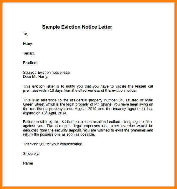 11+ sample of notice | cna resumed