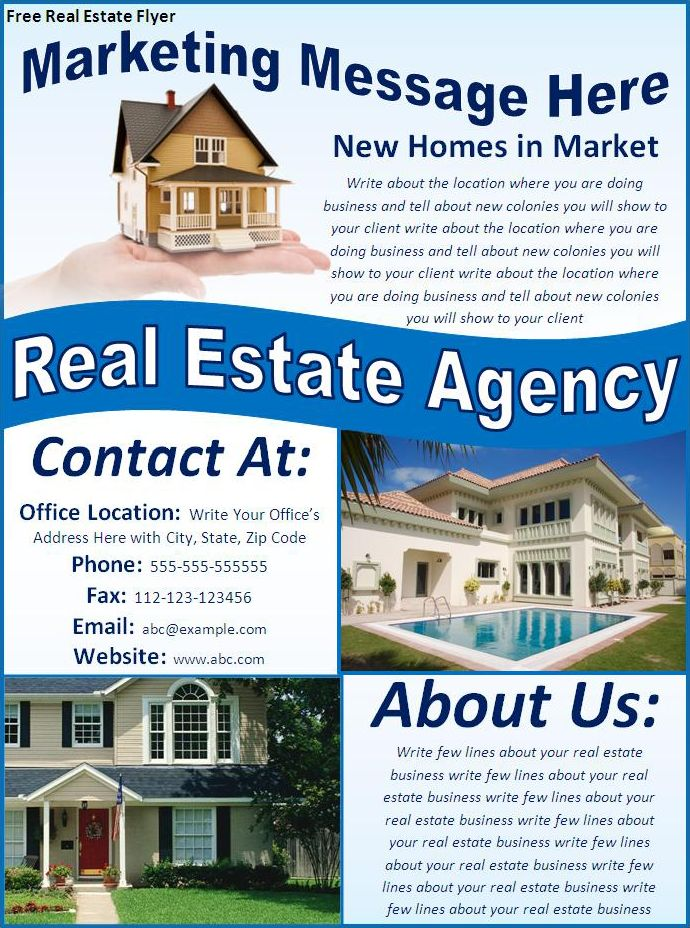 Free Real Estate Flyers - Best Word Templates