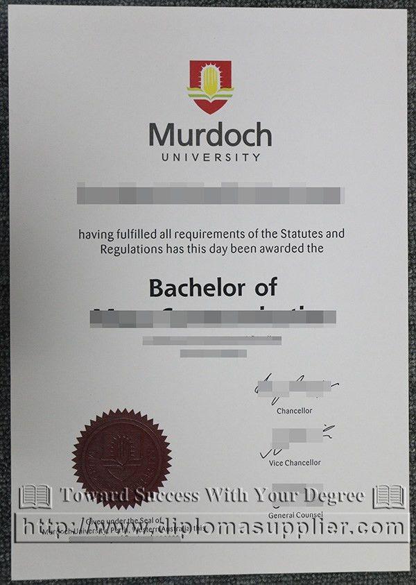 Murdoch University degree certificate, Murdoch University diploma ...