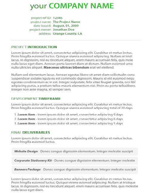 Free Proposal Template | cyberuse