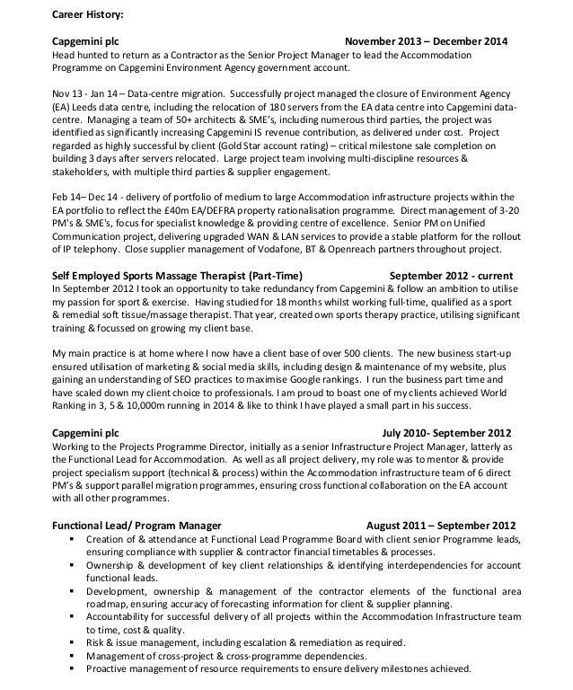 technical project manager resume sample resume project manager