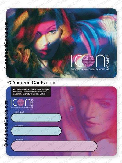 fan club card design sample | Madonna ICON Official fanclub card 2006