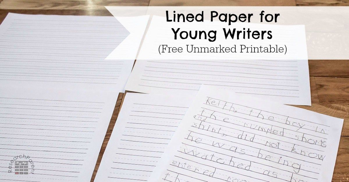 Lined Paper for Young Writers - ResearchParent.com