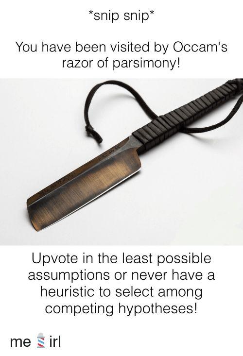 ✅ 25+ Best Memes About Occam's Razor | Occam's Razor Memes