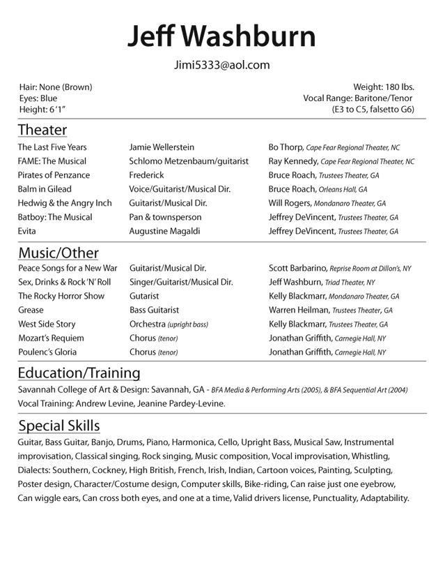 actors resume template brilliant acting resume template to get ...