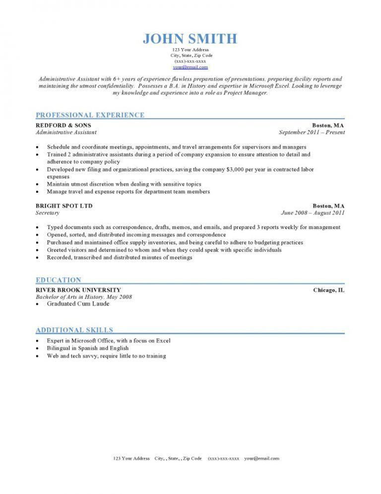 Download Format Of A Resume | haadyaooverbayresort.com