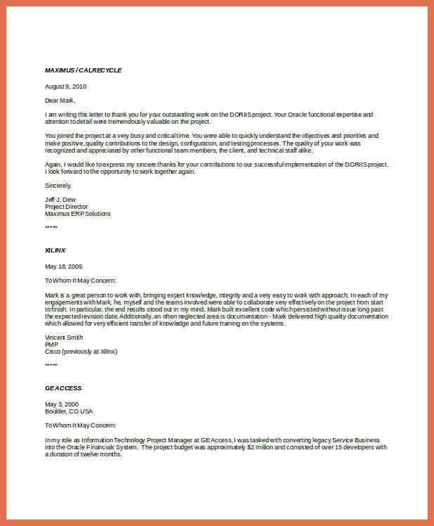Professional Reference Letter. Character Reference Letter Template ...