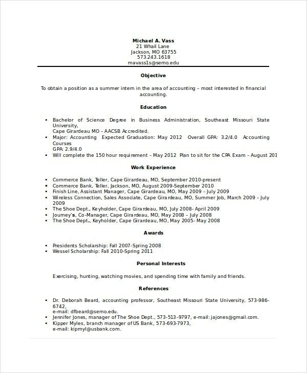 Bank Teller Resume Template - 5+ Free Word, Excel, PDF Documents ...