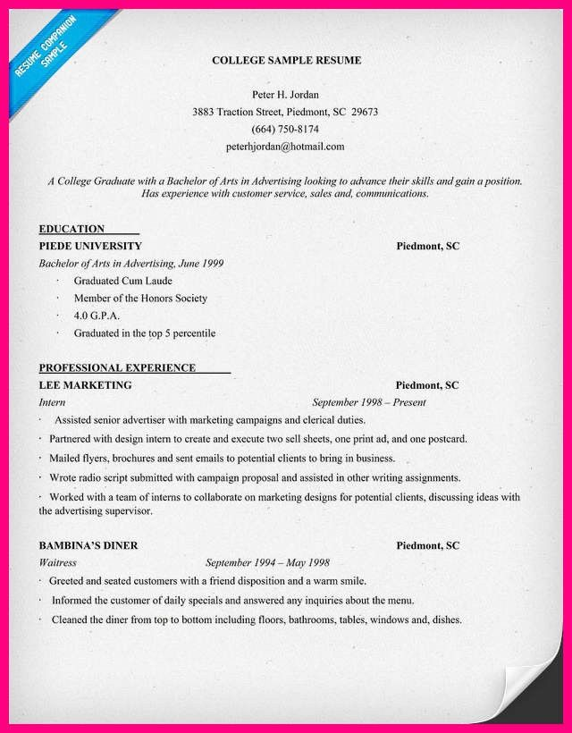 10 College Resume Samples