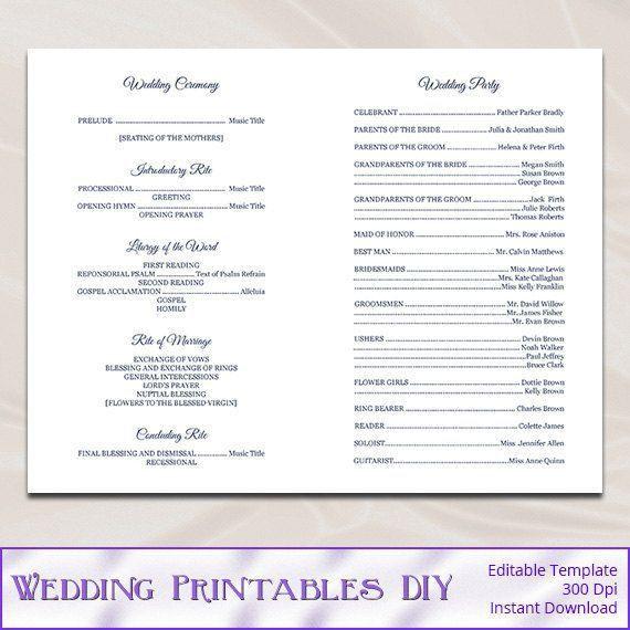 Best 25+ Wedding ceremony booklet templates ideas on Pinterest ...