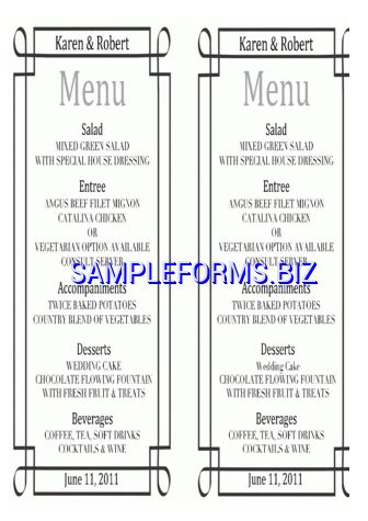 Drinks Bar Menu Template docx pdf free — 1 pages