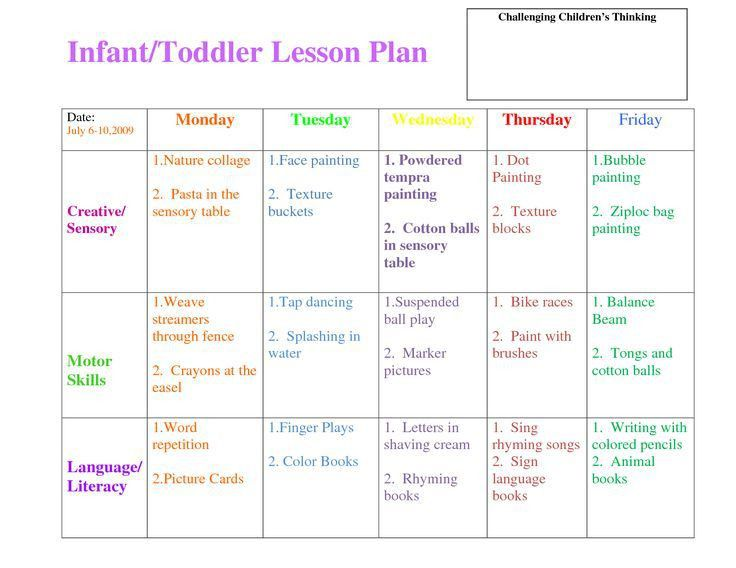 54 best LESSON PLAN FORMS images on Pinterest | Daycare forms ...