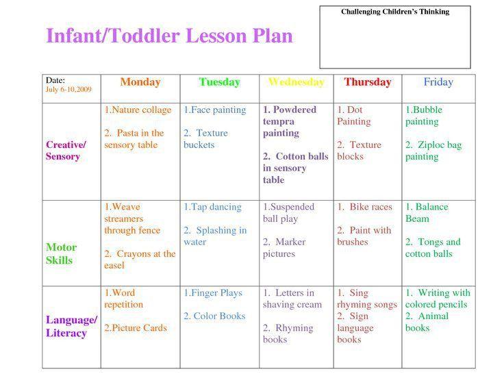 Best 25+ Preschool lesson plan template ideas on Pinterest ...