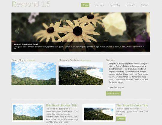 41 Totally Free Responsive HTML/CSS Website Templates | Designbeep