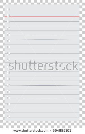 Loose Leaf Paper Your Background Element Stock Vector 694984975 ...