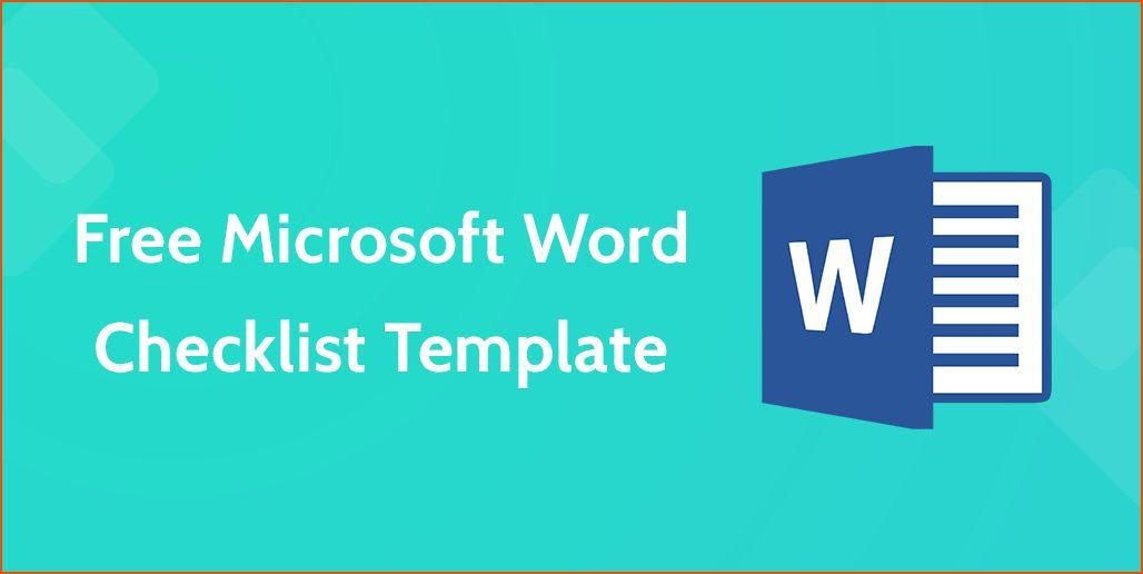 7+ microsoft word checklist template - bookletemplate.org