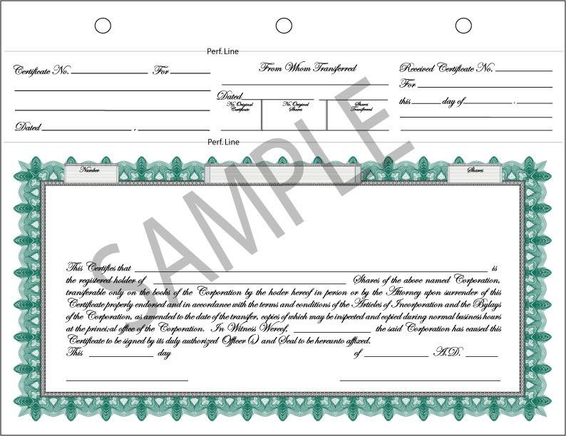 Certificate Design - Complete Stock Certificate in Vector Format