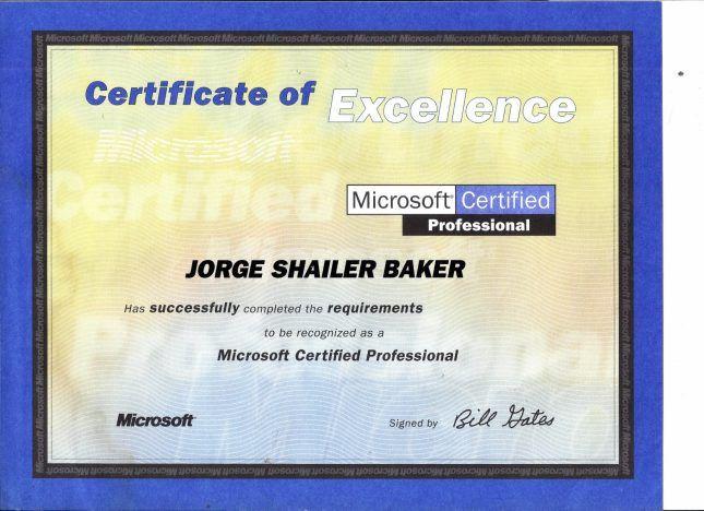 MS-MCP-NT4 | Jorge Shailer Baker, Professional Blog & Web