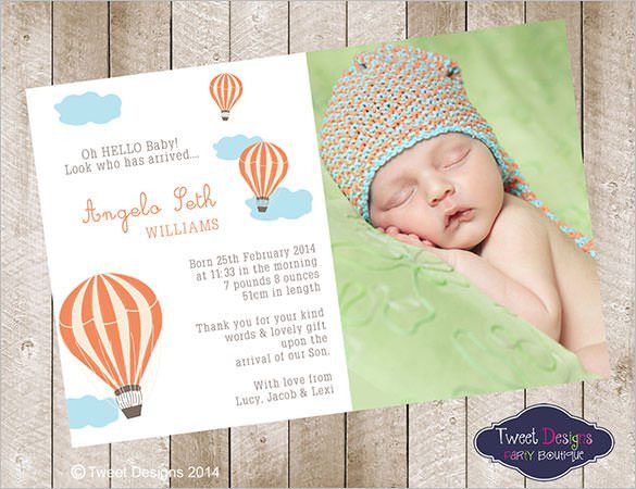 19+ Baby Thank You Cards - Free Printable PSD, EPS, Indesign ...