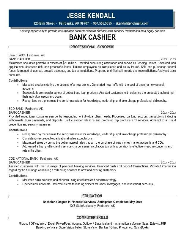 Download Cashier Duties And Responsibilities Resume ...
