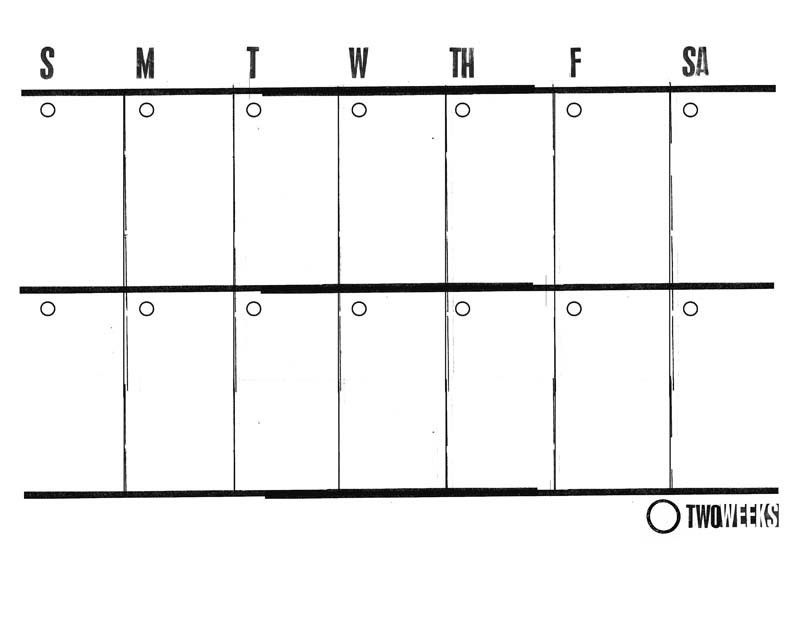 Two Week Calendar Template Word | Calendar Picture Templates