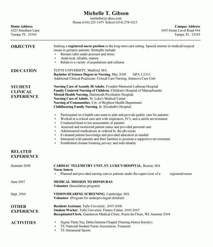 rn resume samplejpg 450600. entry level nurse resume sample ...