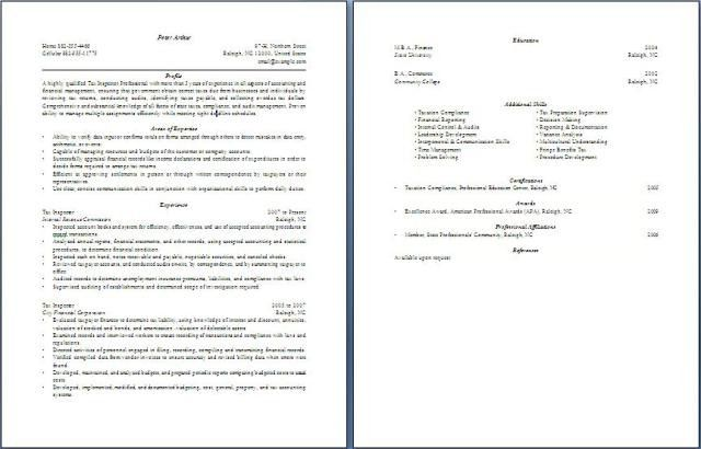 Tax Inspector Resume   Free Layout & Format