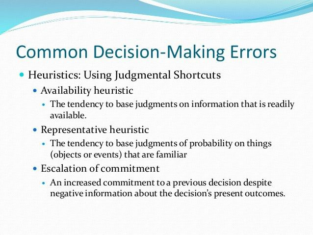 Decision making theory and process