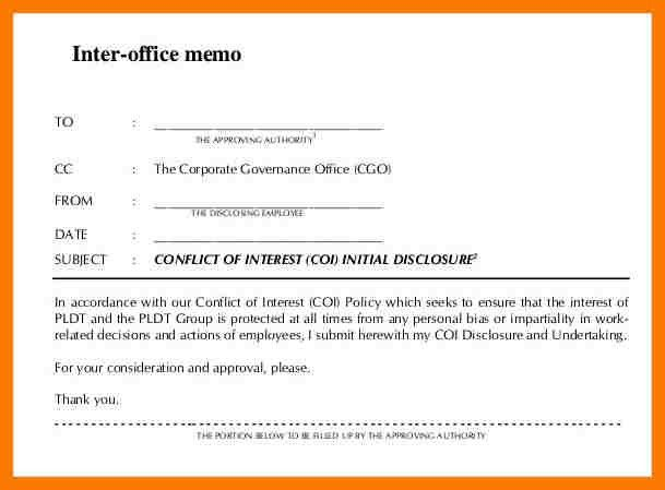 7+ interoffice memorandum sample | park-attendant