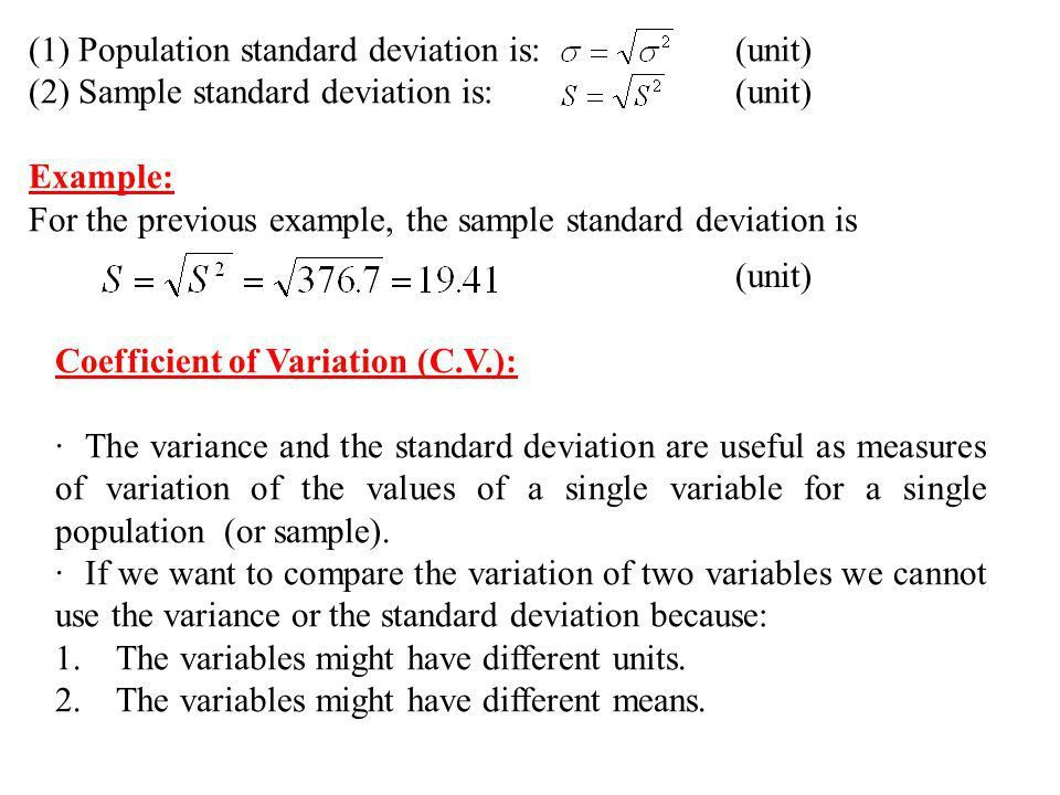 2.3. Measures of Dispersion (Variation): - ppt video online download