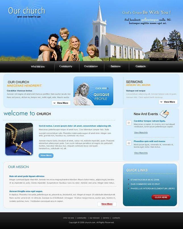 Website templates .net for church websites
