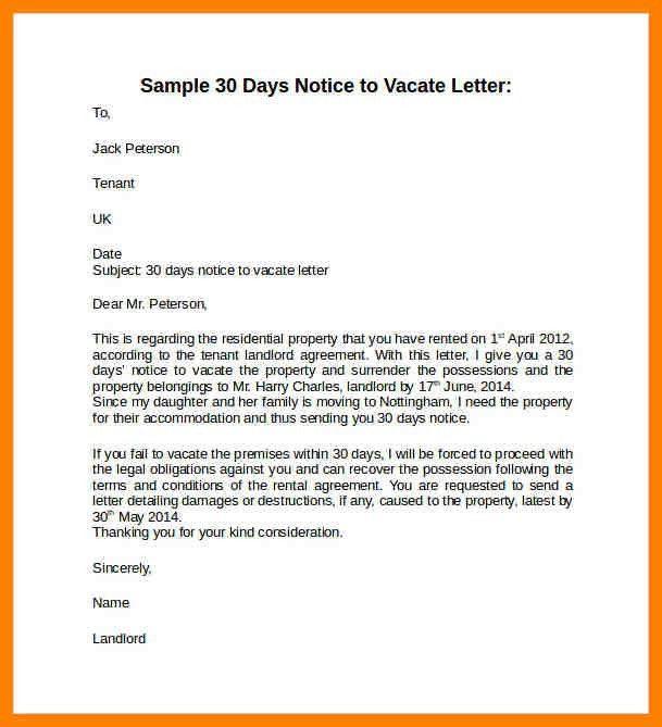 7+ 30 days notice letter | addressing letter