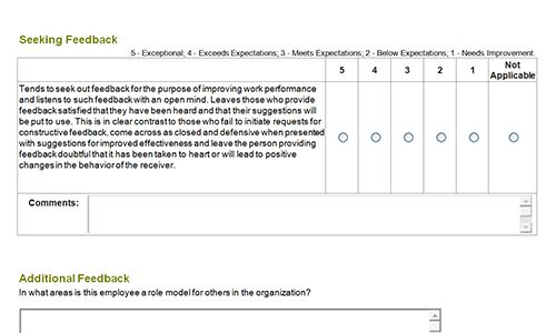 360 degree feedback forms | Download toolkit