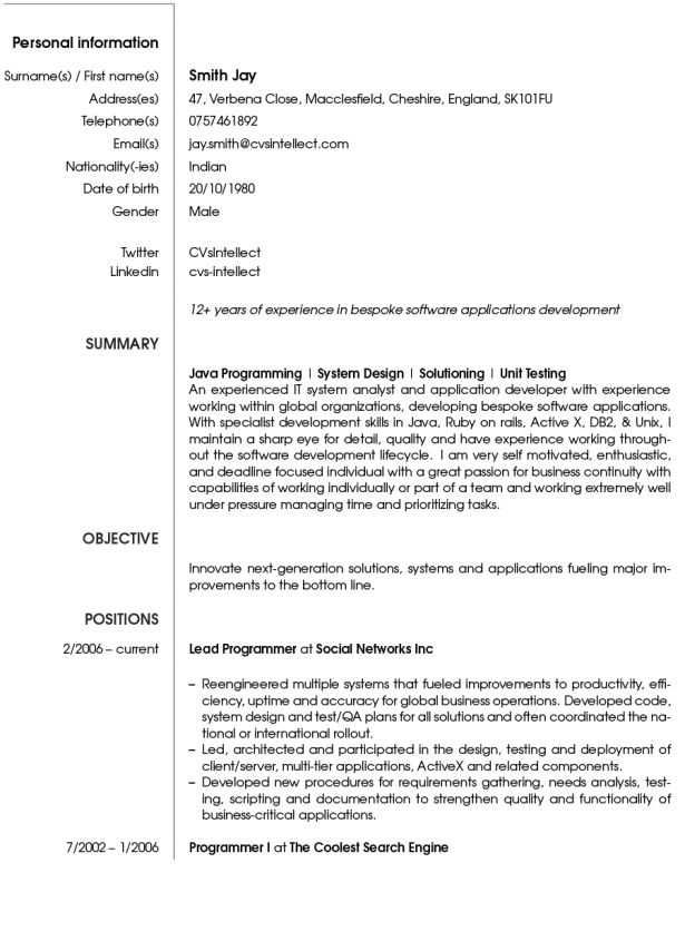 Curriculum Vitae : Security Officer Responsibilities Resume Free ...