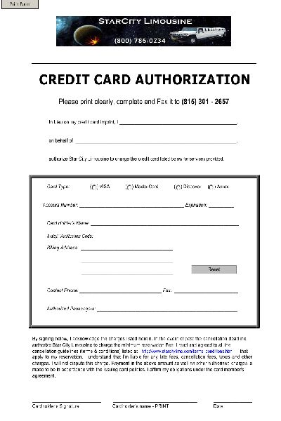 Authority Form Template. form customisation crystal it. credit ...