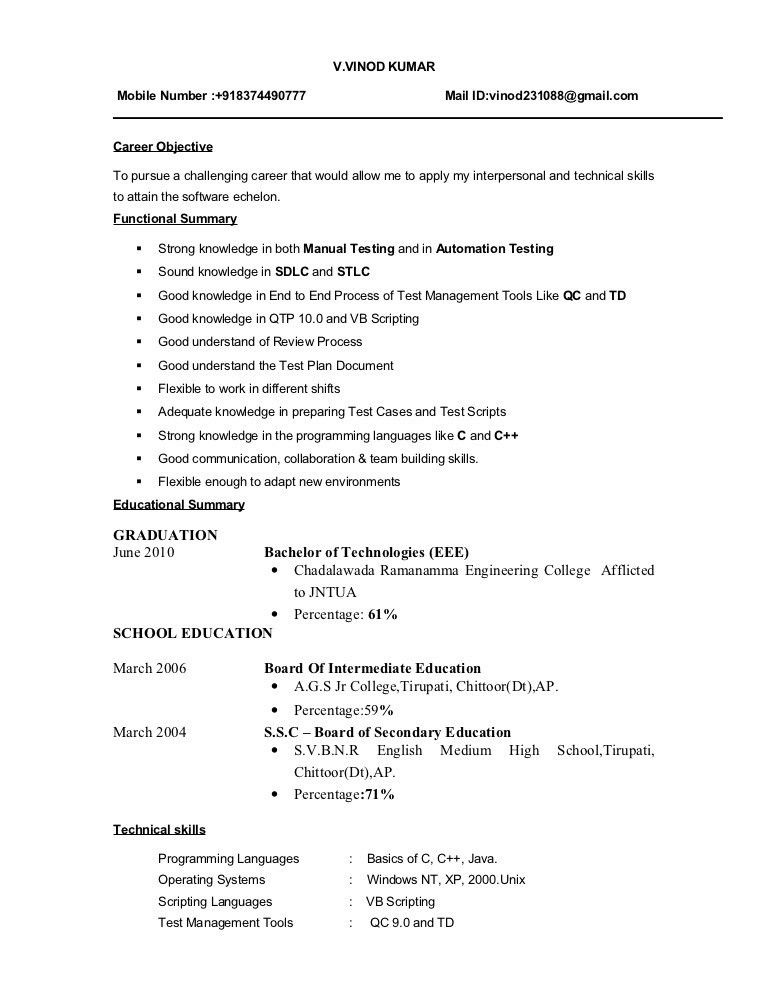 sample of job resume format operation manager template thumb