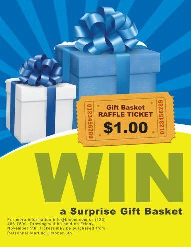 Surprize Gift Raffle Flyer Template | fundraiser | Pinterest ...