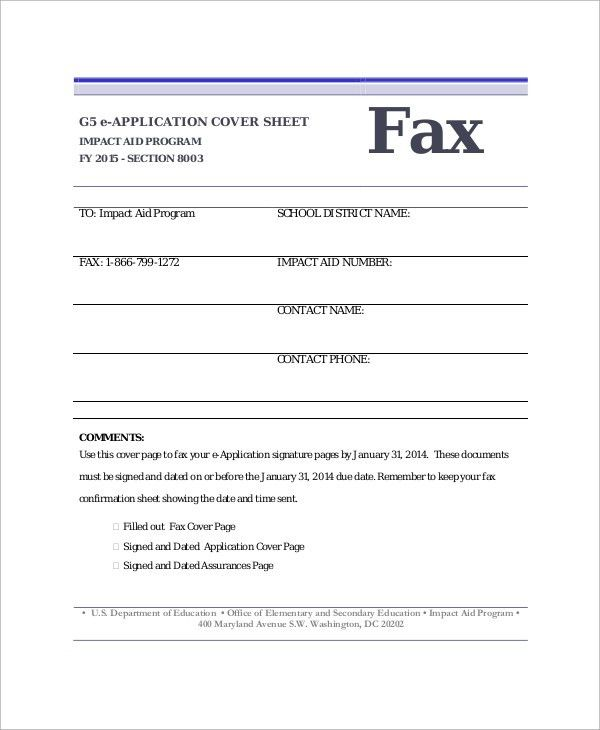 Sample Fax Cover Sheet - 9+ Examples in Word, PDF