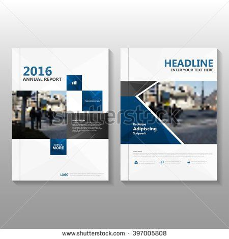 Blue black elegance Vector annual report Leaflet Brochure Flyer ...