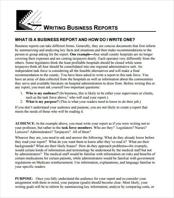 Template Report Writing Sample Report Writing Format  Free