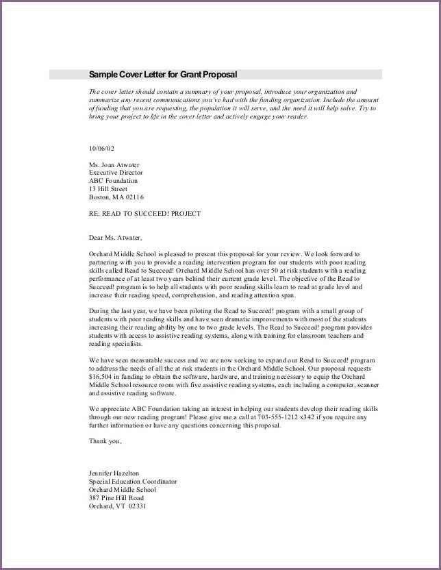 cover letter grant request cover letter sample cover letter for ...